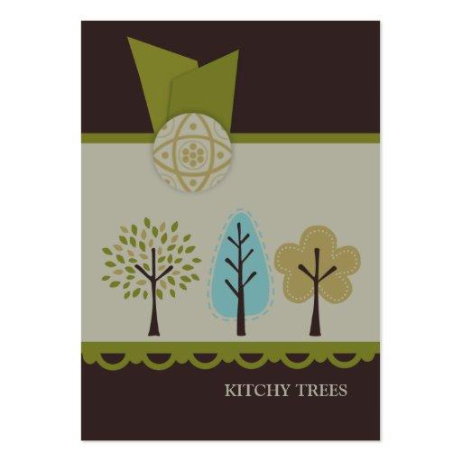 Cartes de visite potelés d'arbres de Kitchy Cartes De Visite Personnelles
