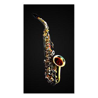 Cartes de visite pour des saxophonistes cartes de visite personnelles