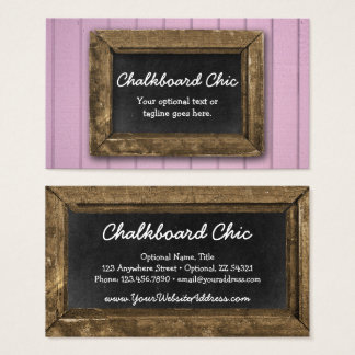 Cartes De Visite Pourpre chic minable de cadre en bois rustique de