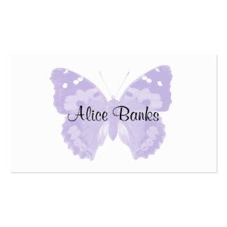 Cartes de visite pourpres de maquilleur de papillo cartes de visite personnelles
