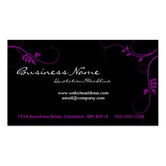 Cartes de visite pourpres de vignes cartes de visite personnelles