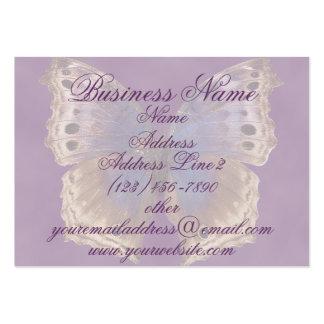 Cartes de visite pourpres magnifiques de papillon cartes de visite personnelles