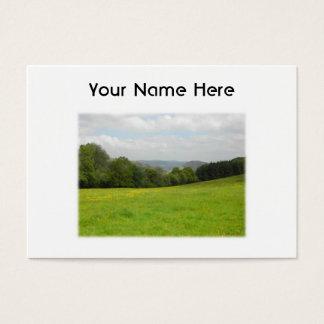 Cartes De Visite Pré vert. Paysage de campagne. Coutume