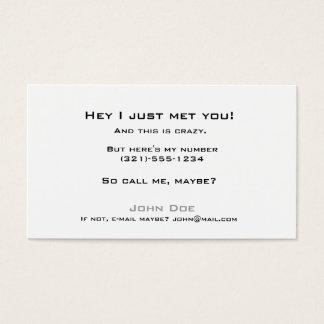 Cartes De Visite Prenez le linecard-appel je