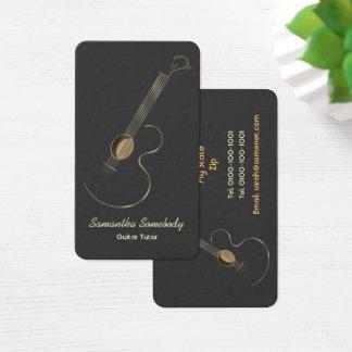 Cartes De Visite Prime de logo de guitare acoustique