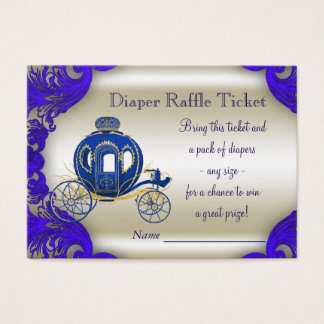 Cartes De Visite Prince royal Diaper Raffle Tickets