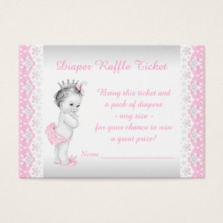 Cartes De Visite Princesse Diaper Raffle Ticket