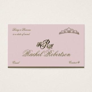 Cartes De Visite Princesse élégante télécarte