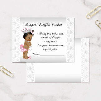 Cartes De Visite Princesse ethnique Diaper Raffle Ticket