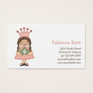 Cartes De Visite Princesse rose · Princesse et grenouille