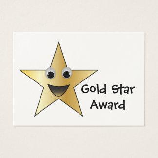Cartes De Visite Prix à la réussite d'étoile d'or pour des enfants