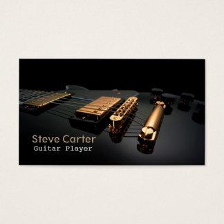 Cartes De Visite Professeur d'artiste de guitariste de joueur de