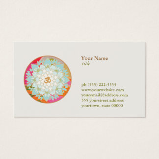 Cartes De Visite Professeur de méditation de yoga de symbole d'OM