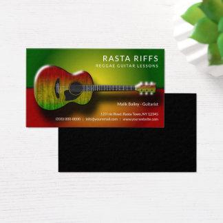 Cartes De Visite Professeur de musique de leçons de guitare de riff
