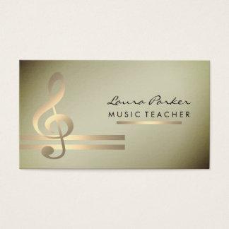 Cartes De Visite Professeur de musique de musicien avec les notes