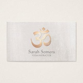 Cartes De Visite Professeur de yoga et de méditation de symbole de