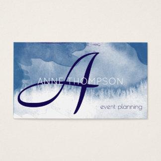 Cartes De Visite profession bleue de coutume d'événements