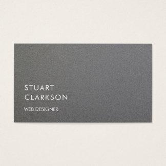 Cartes De Visite Professionnel balayé par gris minimaliste moderne