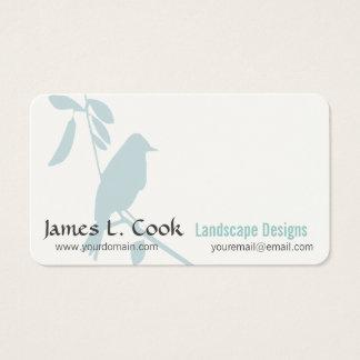 Cartes De Visite Professionnel bleu lunatique d'oiseau d'art