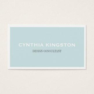 Cartes De Visite Professionnel bleu mou simplement élégant blanc de