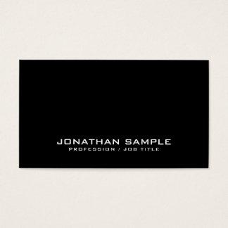 Cartes De Visite Professionnel chic de plaine de noir de conception
