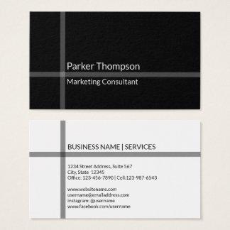 Cartes De Visite Professionnel croisé noir minimaliste simple de