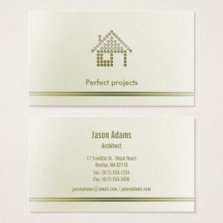 Cartes De Visite Professionnel de l'architecte |