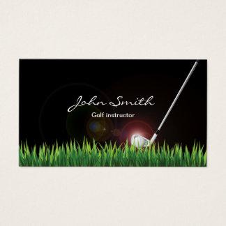 Cartes De Visite Professionnel d'instructeur de golf