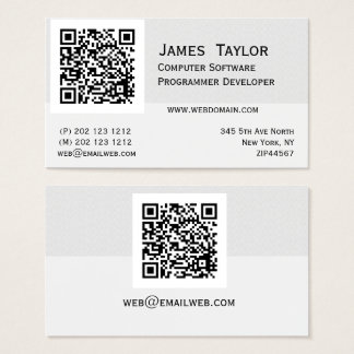 Cartes De Visite Professionnel élégant de l'informaticien de code