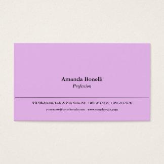 Cartes De Visite Professionnel élégant minimaliste simple rose mou