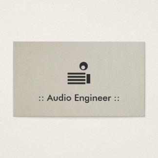 Cartes De Visite Professionnel élégant simple d'ingénieur audio