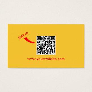 Cartes De Visite Professionnel facile de jaune de plaine de