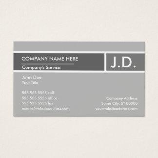 Cartes De Visite professionnel gris