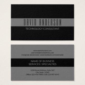 Cartes De Visite Professionnel gris minimaliste simple de rayure du