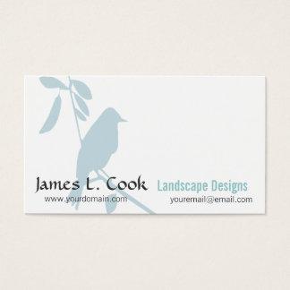 Cartes De Visite Professionnel lunatique moderne d'oiseau bleu