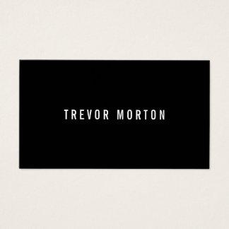 Cartes De Visite Professionnel minimal noir audacieux moderne