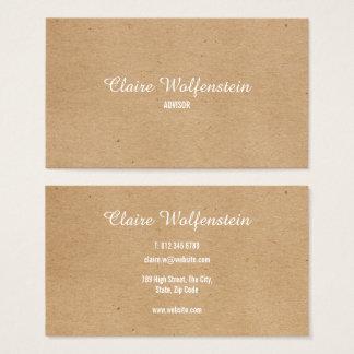 Cartes De Visite Professionnel moderne minimaliste de Papier