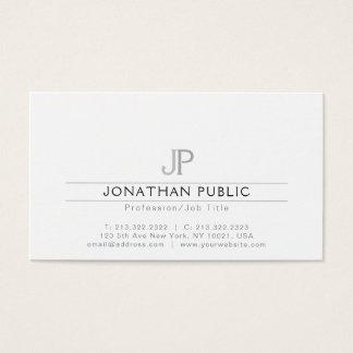 Cartes De Visite Professionnel moderne simple simple de monogramme