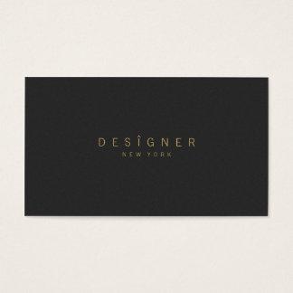 Cartes De Visite Professionnel noir beige élégant minimaliste