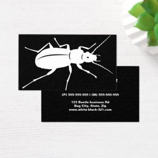 Cartes De Visite Professionnel noir et blanc moderne d'insecte de