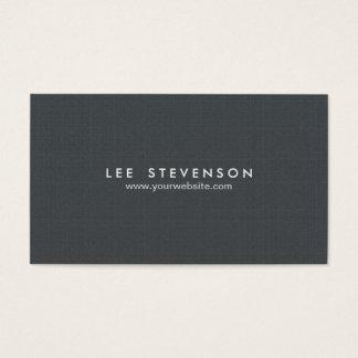 Cartes De Visite Professionnel noir solide simple de Minimalistic