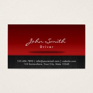 Cartes De Visite Professionnel rouge élégant d'étape de conducteur