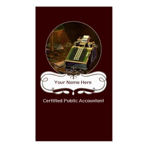 Cartes de visite professionnels de cru de modèle de carte de visite