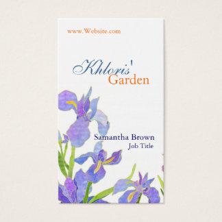 Cartes de visite professionnels de fleuriste de
