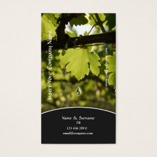 Cartes De Visite Profil d'affaires de raisin de vignoble
