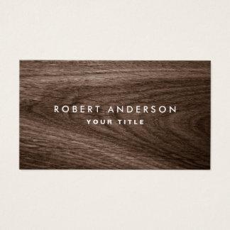 Cartes De Visite Profil en bois foncé de professionnel de grain