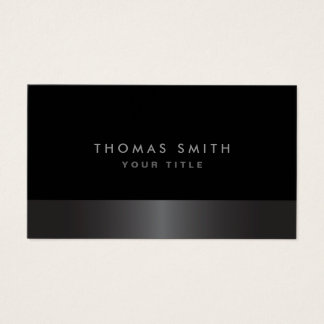 Cartes De Visite Profil gris-foncé et noir chic élégant moderne