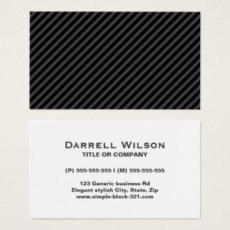Cartes De Visite Profil gris noir élégant simple moderne de rayures
