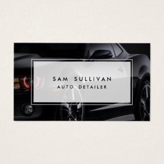 Cartes De Visite Profil noir brillant automatique de voiture de