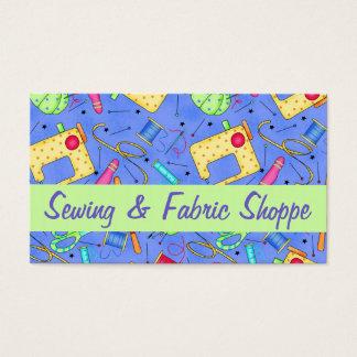 Cartes De Visite Promotion de couture de magasin de tissu d'art de